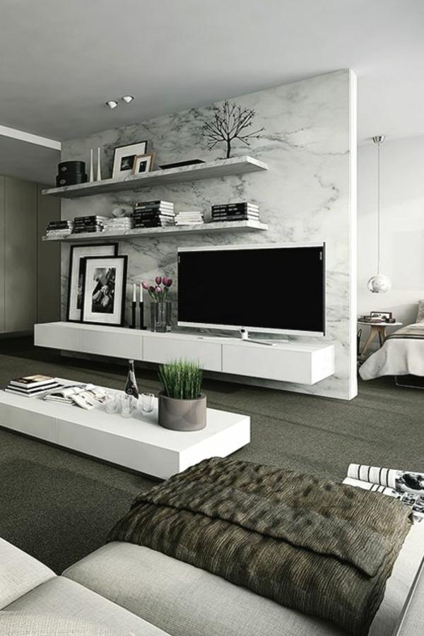 bilder rahmen bücher fernsehschrank ikea modern wohnzimmer