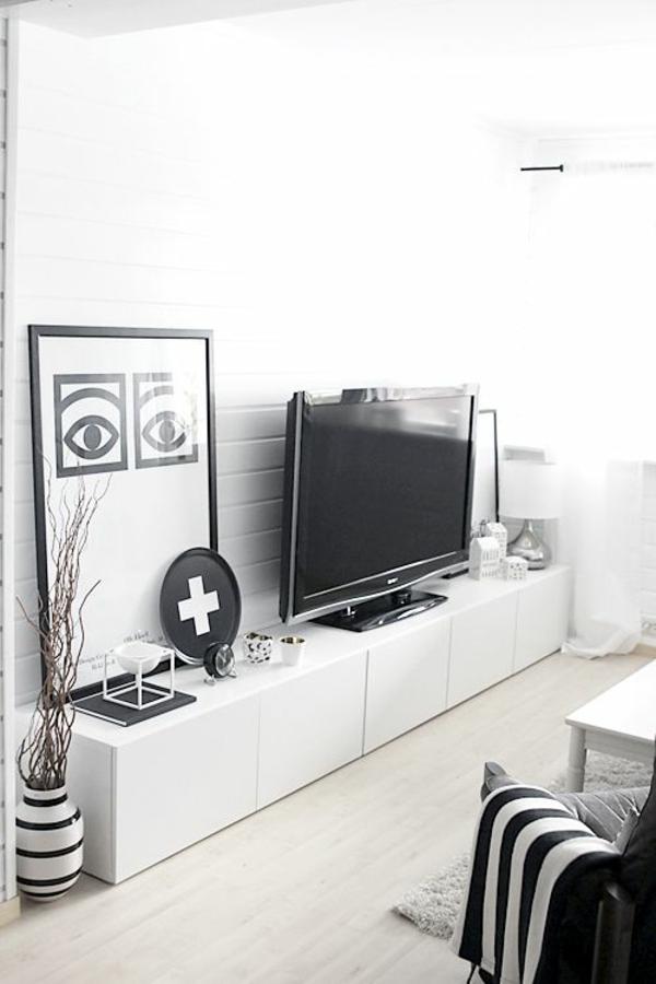 ikea schwarz weiß fernsehschrank  einrichtung