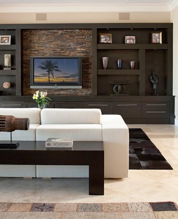 sofa weiß rustikal fernsehschrank ikea wandgestaltung
