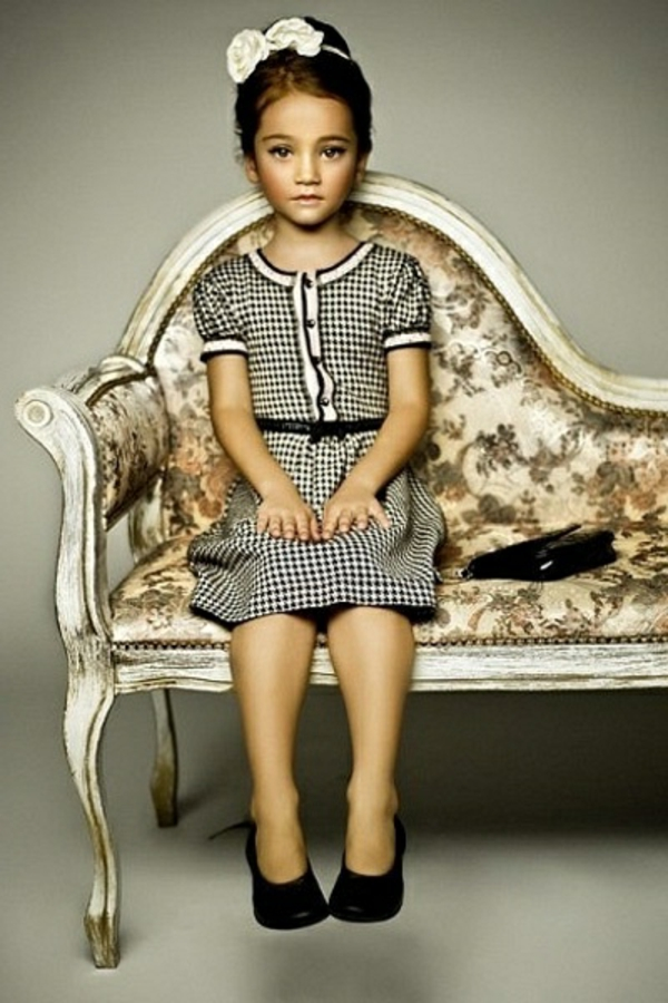 festliche kindermode kariertes kleid