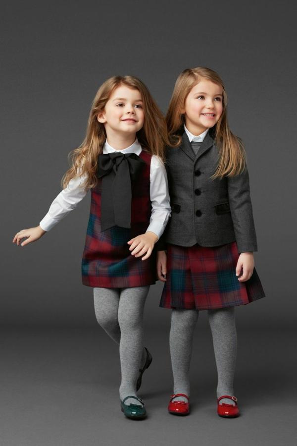 festliche kindermode kleider kariert sakko