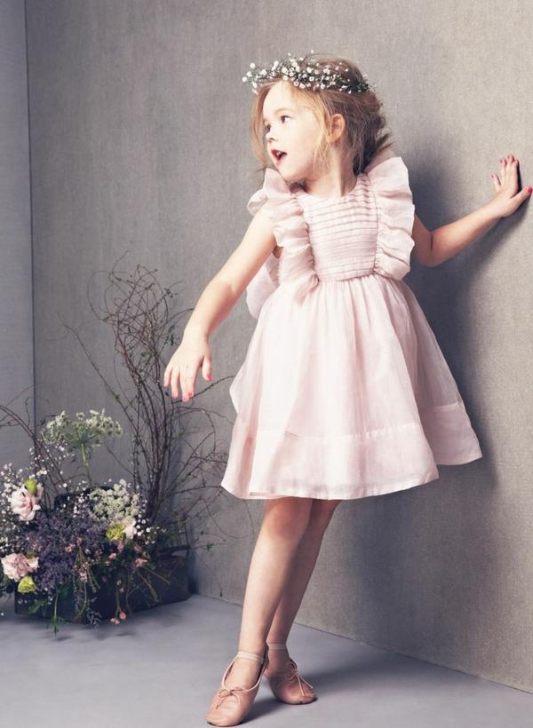festliche kindermode rosa kleid mädchen