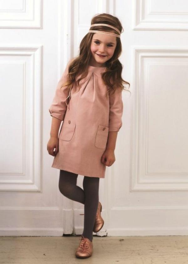 festliche kindermode rosa kleid