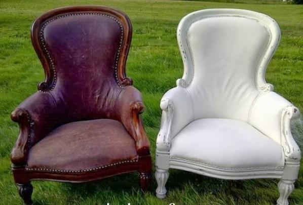 Französische Polstermöbel Landhausmöbel Leder Sessel