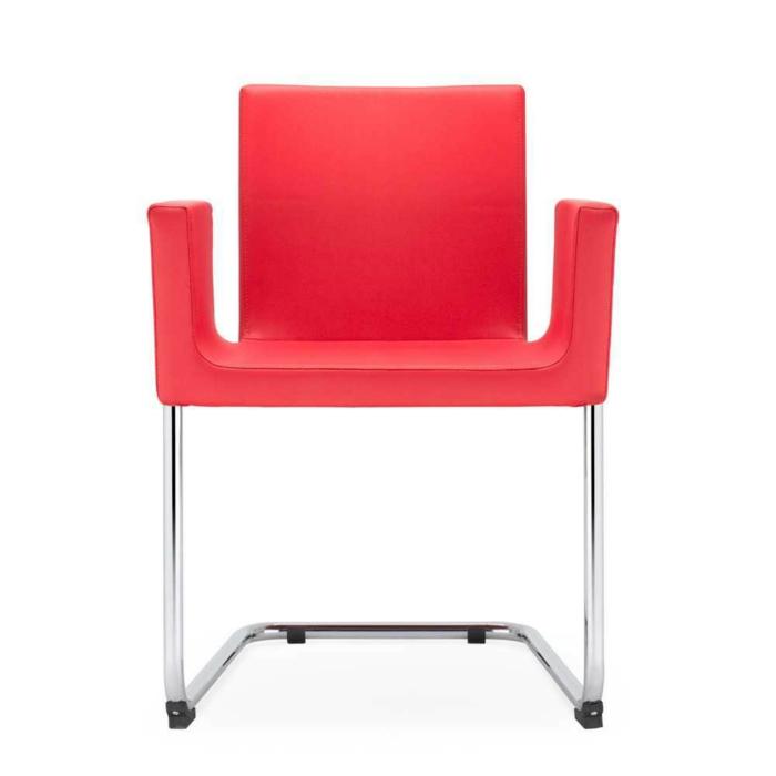 freischwinger sessel Design Sessel Ruven in Rot