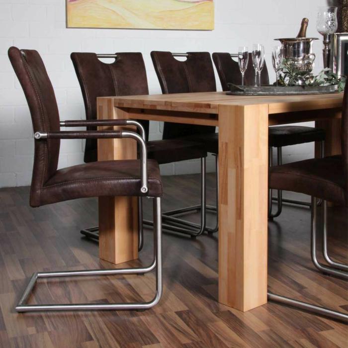 freischwinger stühle freischwinger mit armlehne Armlehnstuhl Liz in Braun
