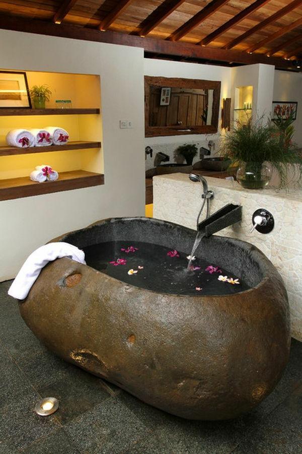 freistehende badewanne - blickfang und luxus im badezimmer - Badewanne Rustikal