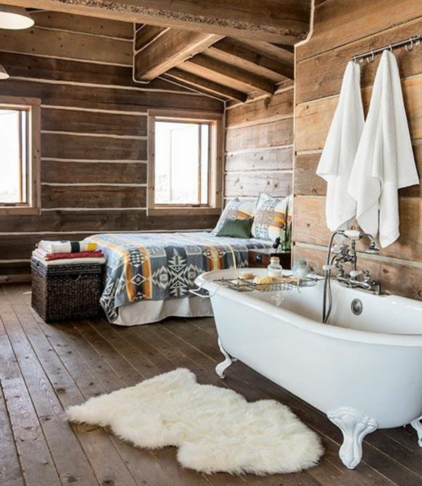 Badewanne Rustikal freistehende badewanne - blickfang und luxus im badezimmer