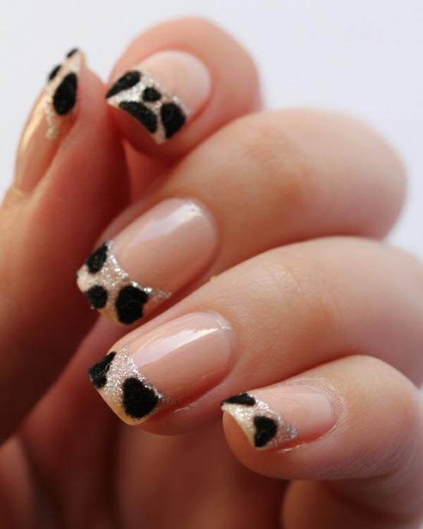 french nagel design bildergalerie nail art schwarz weiß