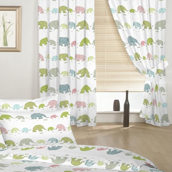 gardinen für kinderzimmer weiß vorhänge