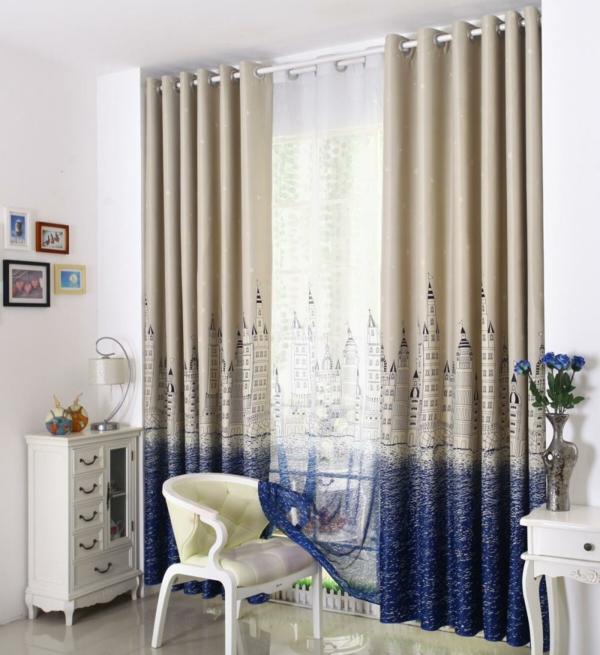 gardinen braun kinderzimmer fancy klassisch stil