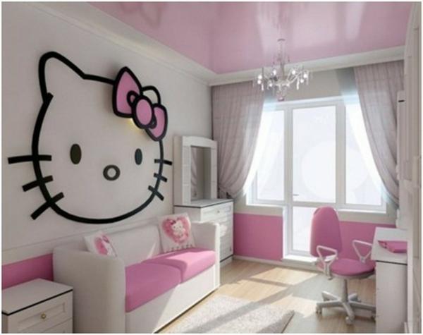 gardinen für kinderzimmer mädchen hello kitty