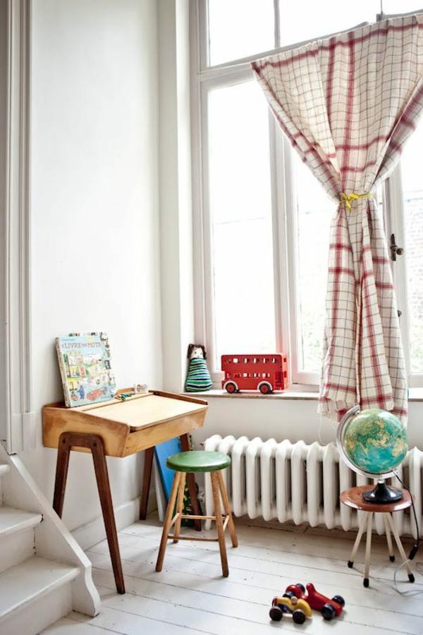 gardinen für kinderzimmer vintage retro stil