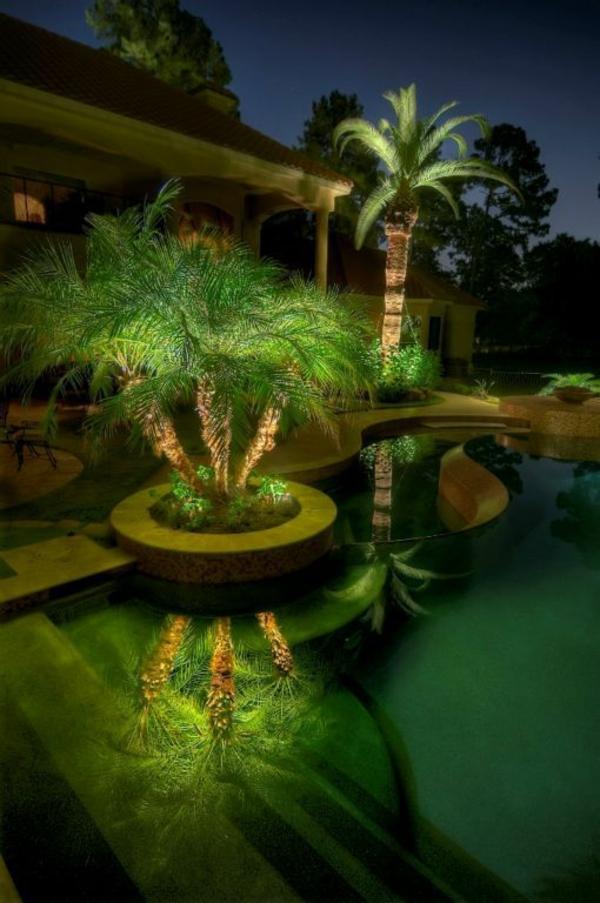 garten planen kostenlos gartengestalter nachts beleuchtung palmen