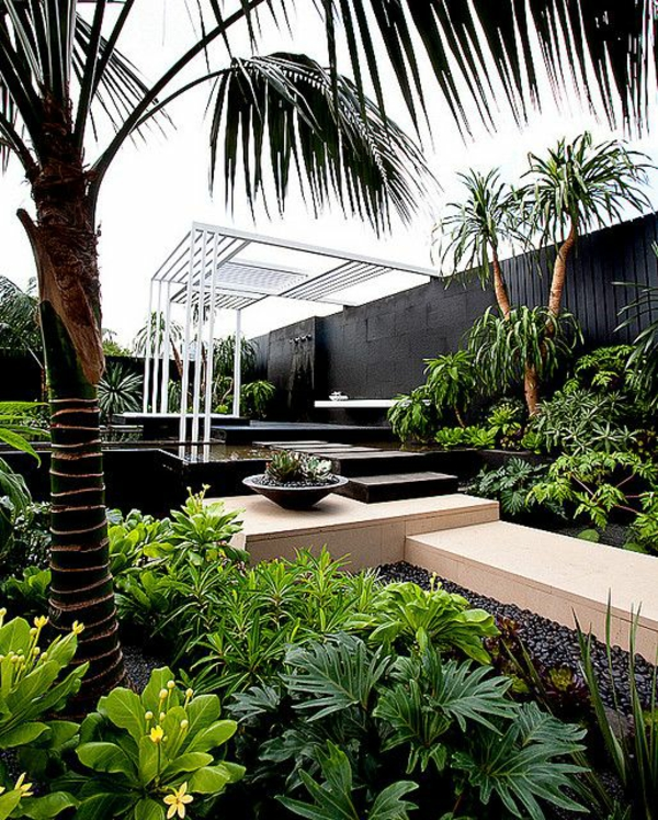 100 gartengestaltungsideen und gartentipps f r anf nger - Garten mit palmen gestalten ...