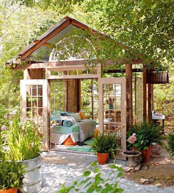 Gartenpavillon Aus Holz Und Glas