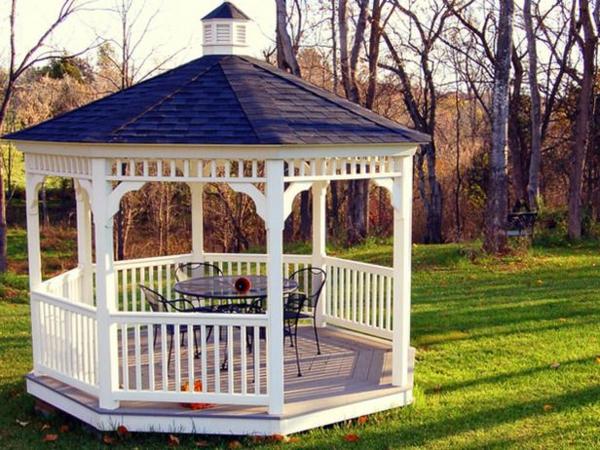 Gartenpavillon Holz Rechteckig ~ gartenpavillon holz offen runder tisch stühle