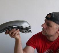 Gebrauchte Motorradteile – ausgefallene Skulpturen im Steampunk Stil