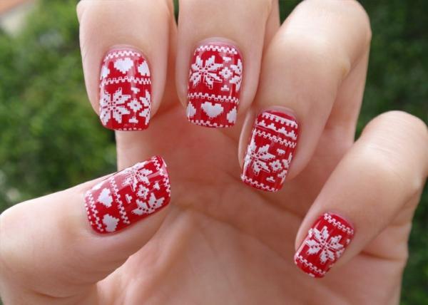 gelnagel muster fr die adventszeit und weihnachten - Gelnagel Muster