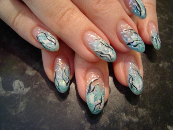 gel nagel muster oval
