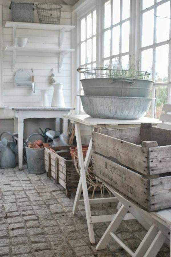 gemüse wintergarten selbstbau gartenzubehör holzkisten