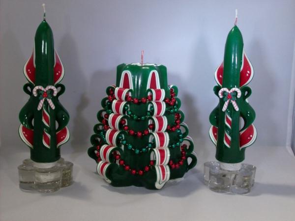 geschnitzte kerzen machen zu weihnachten