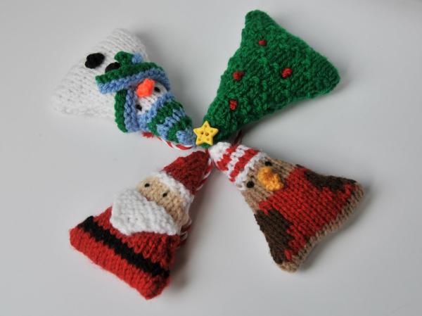 gestrickte bastelideen weihnachten weihnachtsdeko ideen