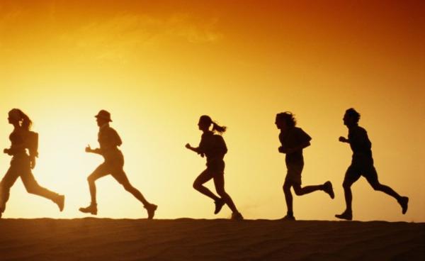 gesund freunde bleiben langes leben sportaktivität joggin