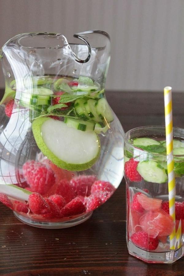 gesunder lebensstil gesund bleiben wasser obst