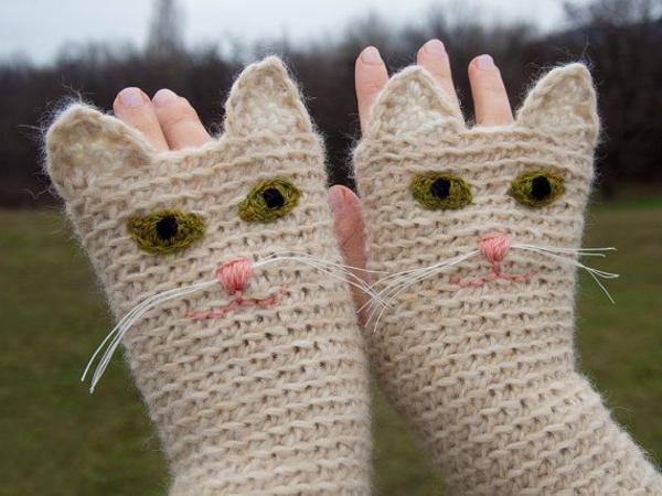 Handschuhe stricken - originelle und ausgefallene Ideen