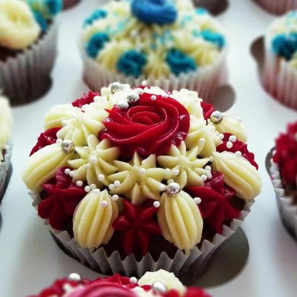 herzhafte cupcakes rote rosen