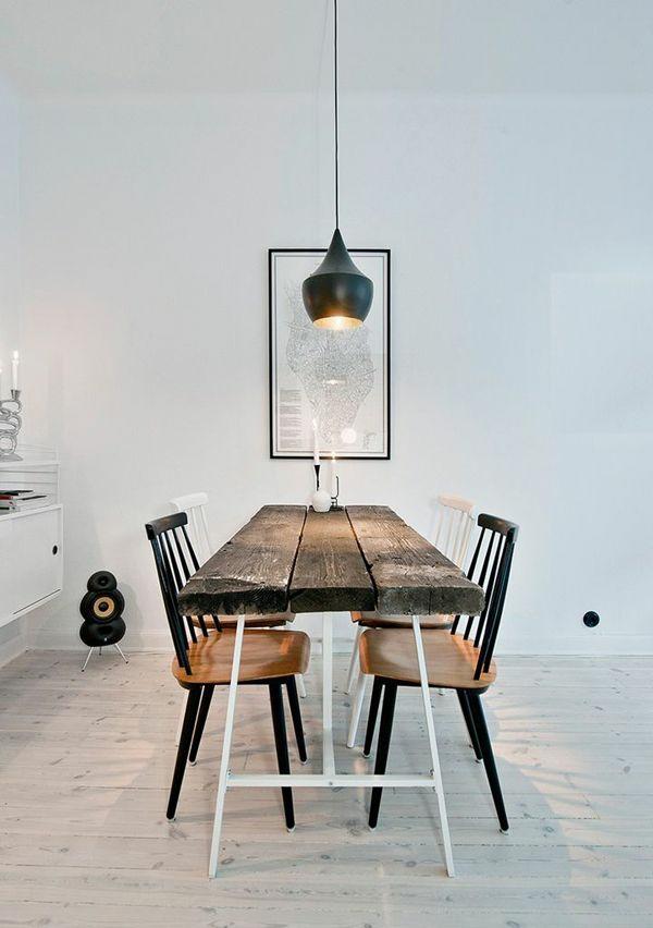 holzmöbel esszimmer einrichten esstisch rustikal echtholz