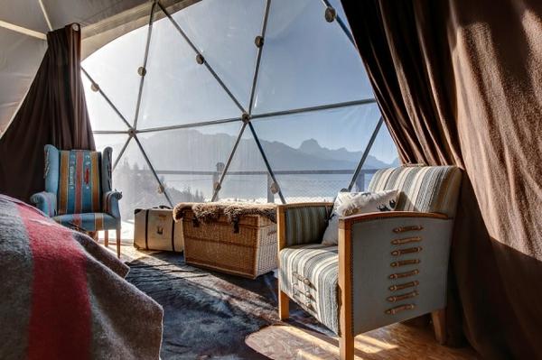 ökohotel iglu alpen einrichtung panoramafenster