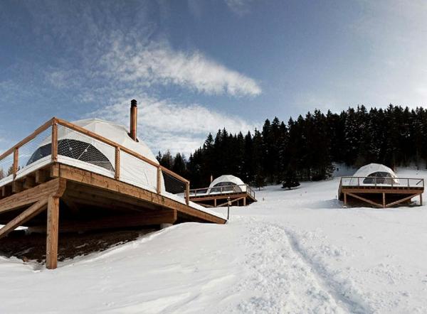 ökohotel iglu alpen luxushotel zelte