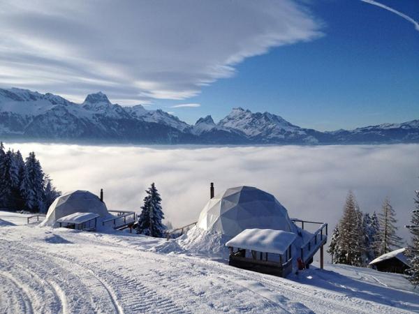 hotel iglus alpen schnee gebirge