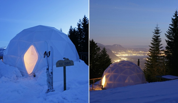 hotel iglu alpen schnee