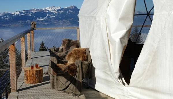 ökohotel iglu luxushotel resort balkon
