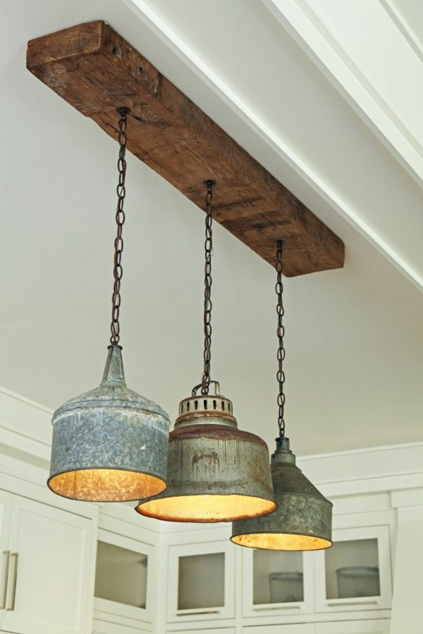industriallampen Industrial chic Möbel pendelleuchten esszimmer