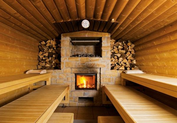 körper entgiften kamin sauna