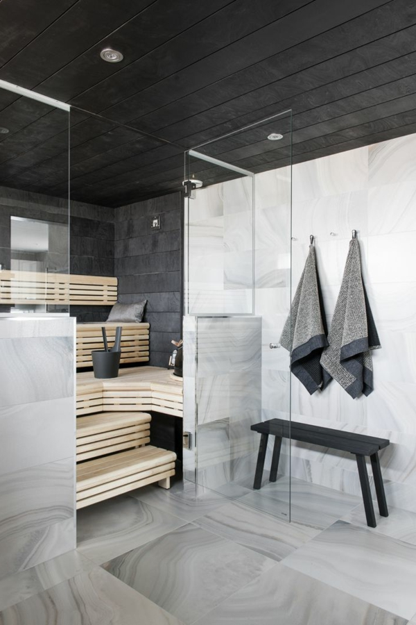 körper entgiften sauna marmor fliesen