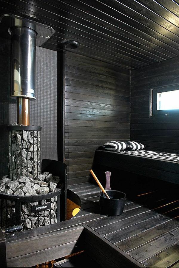körper entgiften sauna schwarz weiß