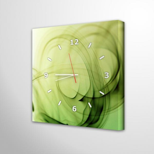 küchen traditionell design wanduhren grün viereck