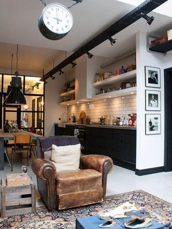 küchenuhr wanduhr küche industriell urban