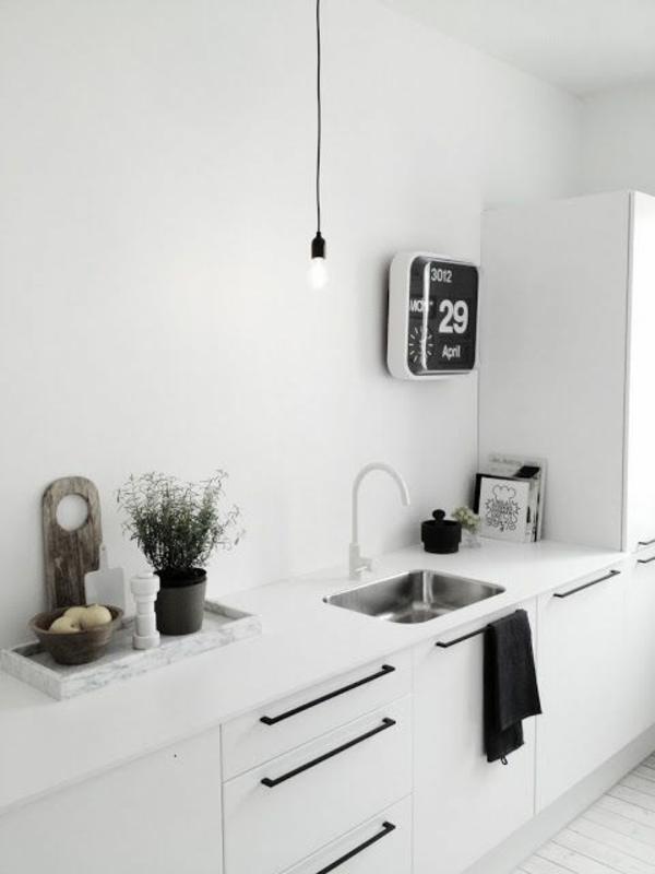 küchenuhr wanduhr küche weiß