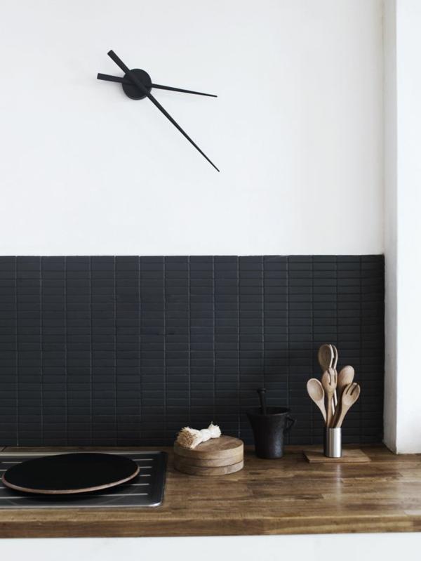 Moderne Küchenuhren minimalistisch schwarz weiß