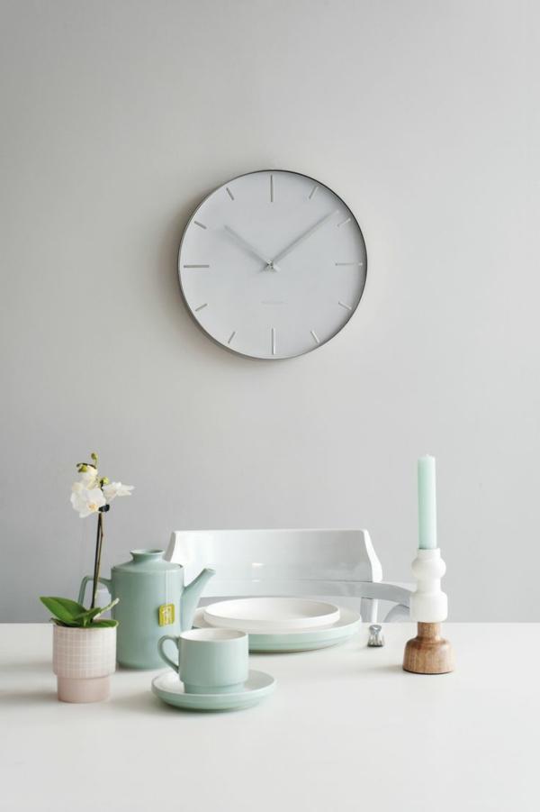 Moderne Küchenuhren simpel minimalistisch industriell design