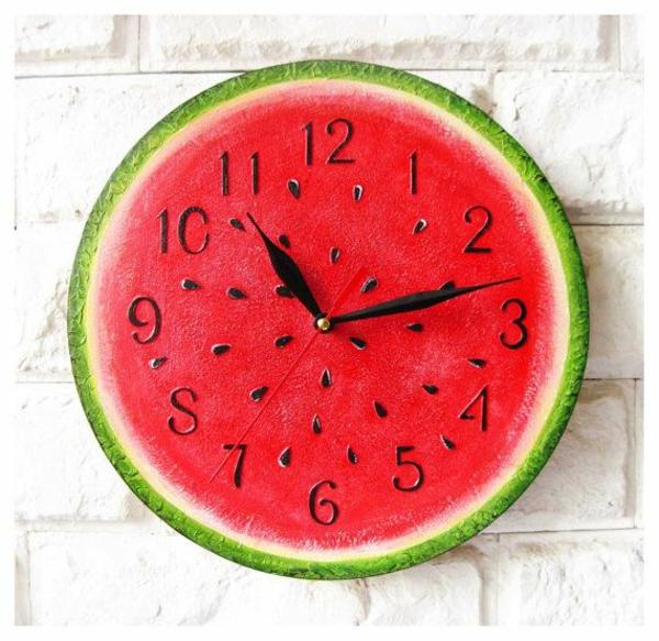 küchenuhren wassermelone rund wanduhr