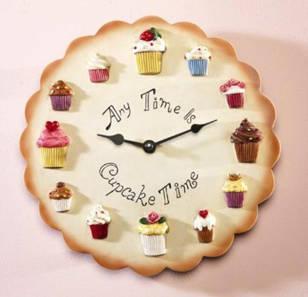 küchenwanduhren kuchen cupcakes