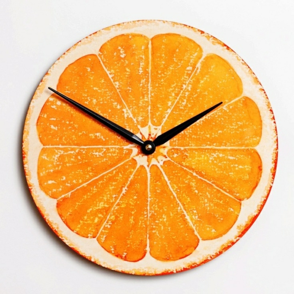 moderne Küchenuhren schein geschmackvoll orange mechanismen