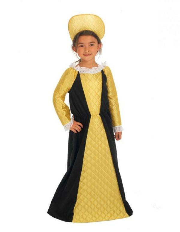 kinderkostüme königin schwarz gold